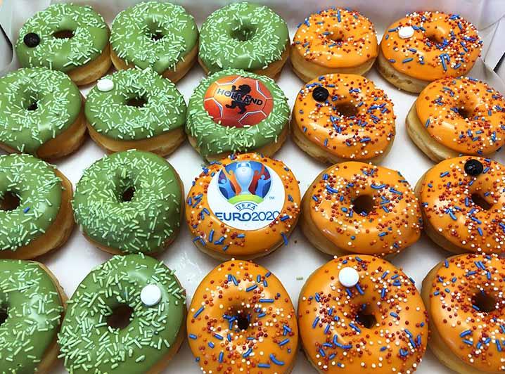 EK Voetbal Mini Donut box - JJ Donuts