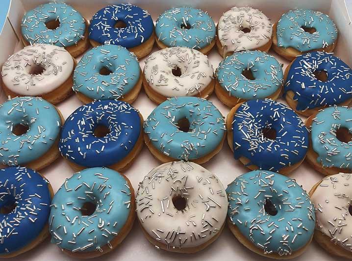 Silver Clouds Mini Donut box - JJ Donuts