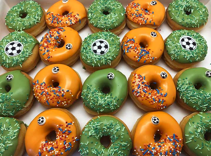 Voetbal Ballen Mini Donut box - JJ Donuts